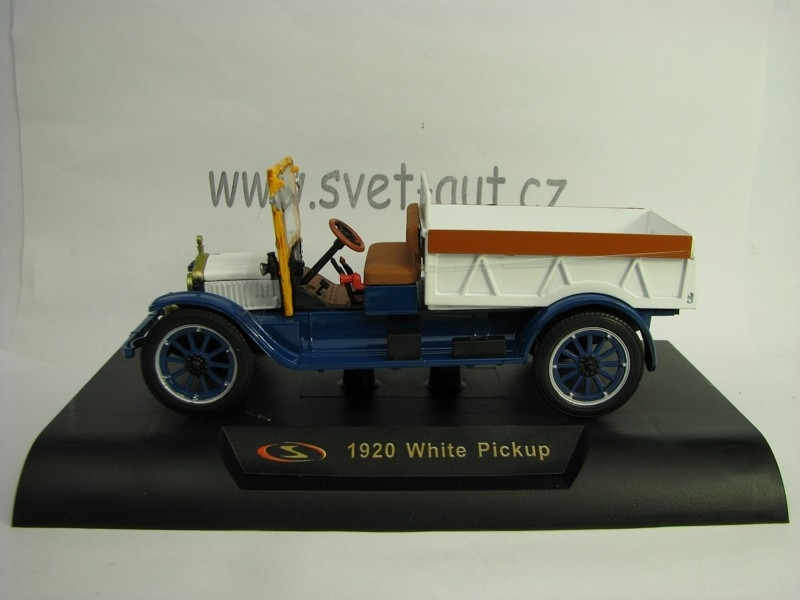 White Pickup 1920 White blue 1:32 Signature Models
