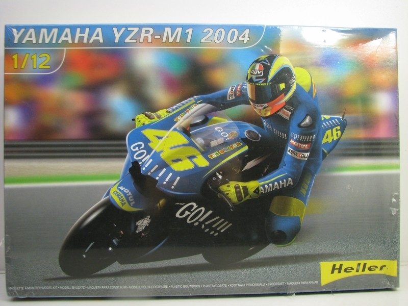 Yamaha YZR-M1 No.46 Rossi GP France Le Mans 2004 1:12 kit Heller