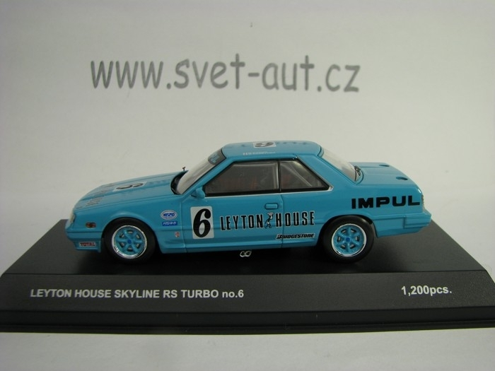 Nissan Skyline RS Turbo 1985 No.6 Leyton House 1:43 Kyosho