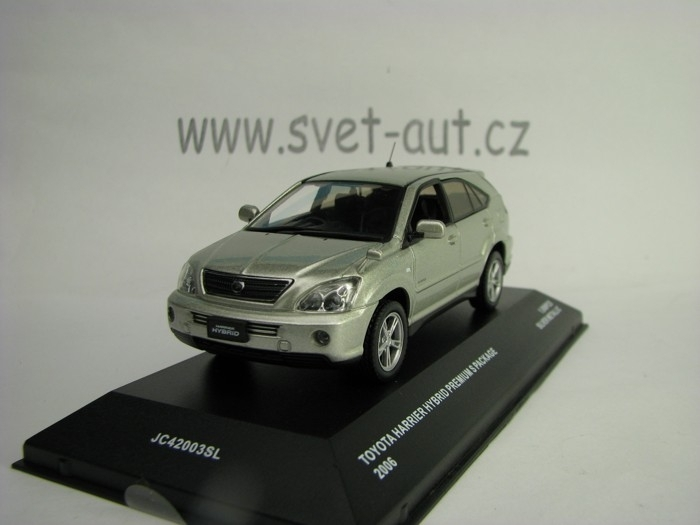 Toyota Harrier Hybrid Premium S Package 2006 Silver 1:43 J-collection