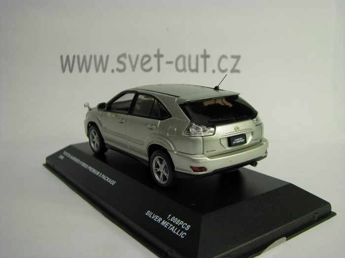 Toyota Harrier Hybrid Premium S Package 2006 Silver 1:43 J-colle