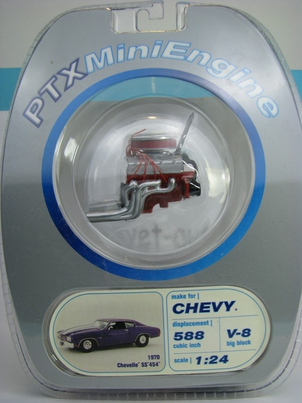 Motor Chevrolet Chevelle SS 454 1970 1:24 PTX Mini Engine