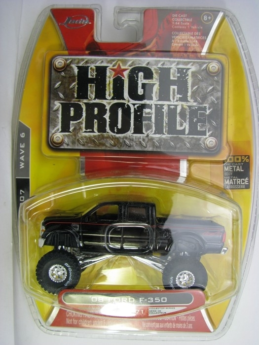 Ford F-350 Black 2008 Pickup 1:64 High Profile Jada Toys