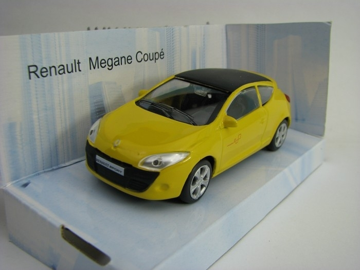 Renault Megane Coupe Yellow Black rof 1:43 Mondo