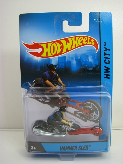 Hammer Sled Hot Wheels Motorcykles w-Figures HW City
