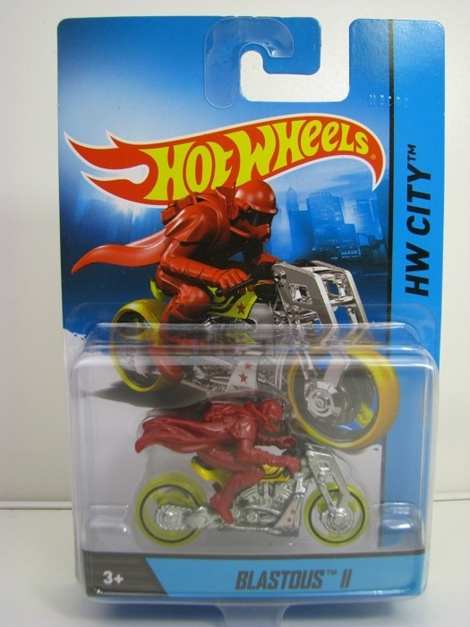 Blastous II Hot Wheels Motorcykles w-Figures HW City