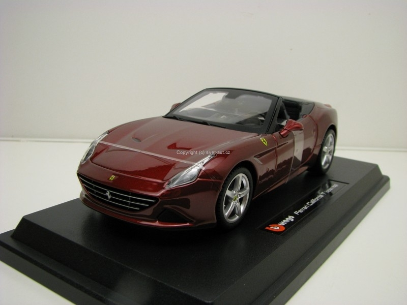 Ferrari California T Open top Purple 1:24 Bburago