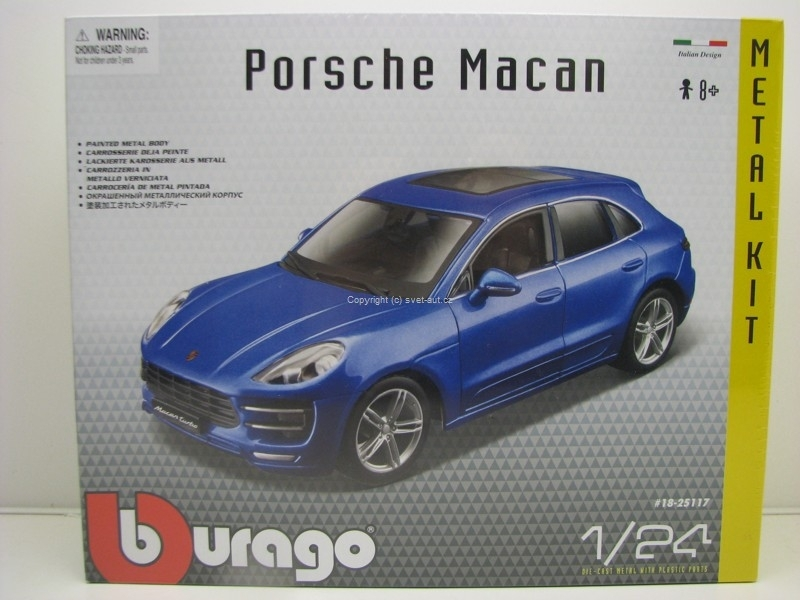 Porsche Macan Blue Metallic Kit 1:24 Bburago