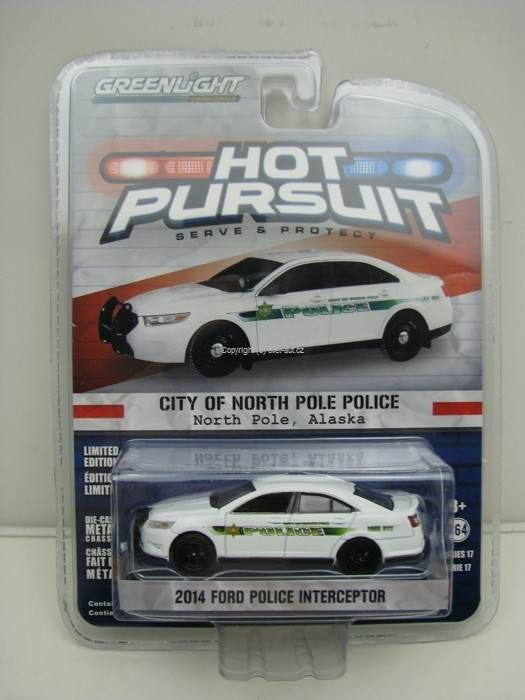 Ford Police Interceptor 2014 North Pole Hot Pursuit 1:64 Greenlight