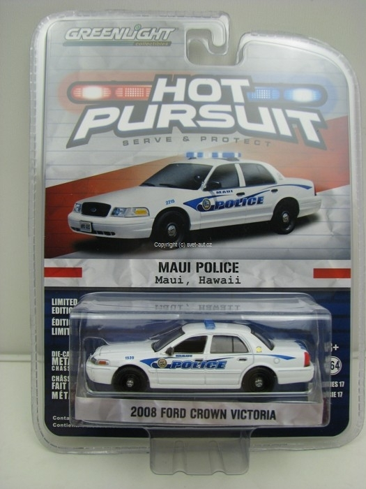 Ford Crown Victoria 2008 Maui Police Hot Pursuit 1:64 Greenlight