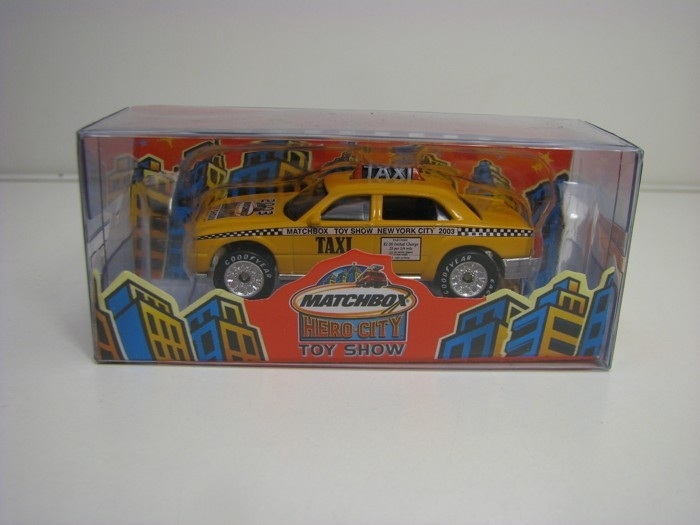Matchbox Hero-City Taxi NY Toy Show New York 2003