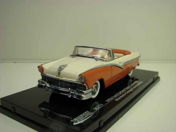 Ford Fairlane open convertible 1956 Mandarin orange/White 1:43 Vitesse