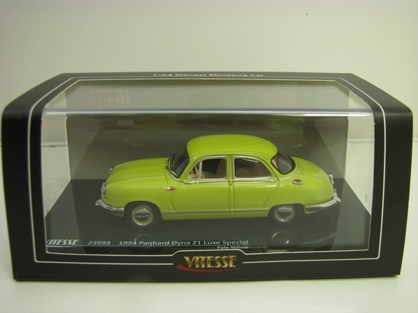 Panhard Dyna Z1 Luxe Special 1954 Pale Yellow 1:43 Vitesse
