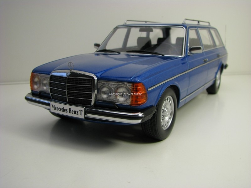 Mercedes-Benz S123  250T Estate Blue 1:18 KK Scale