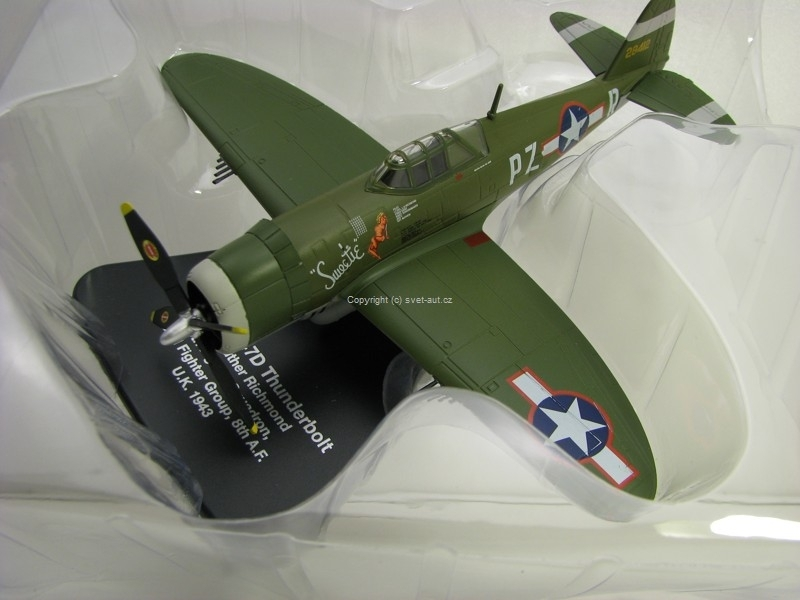 Letadlo Republic P47D Thunderbolt USA AF Europe 1943 1:76 Oxford
