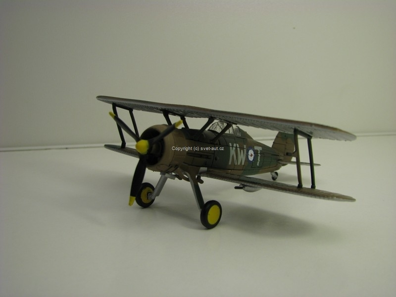 Letadlo Gloster Gladiator MKII France April 1940 1:72 Oxford