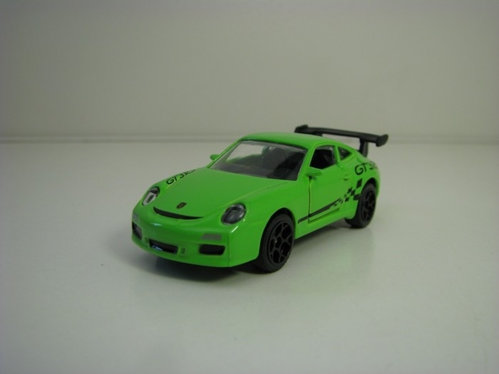 Autíčko Porsche 911 GT3RS Green racing cars 1:59 Majorette box