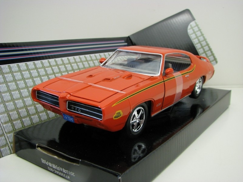 Pontiac GTO Judge 1969 Orange 1:24 Motor Max