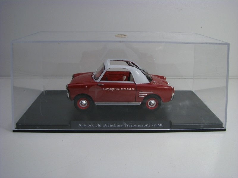 Autobianchi Bianchina Transformabile 1958 Red 1:24 Leo Models