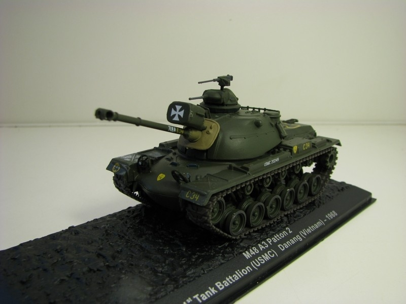Tank M48 A3 Patton 2 Danang Vietnam 1968 1:72 Atlas Edition