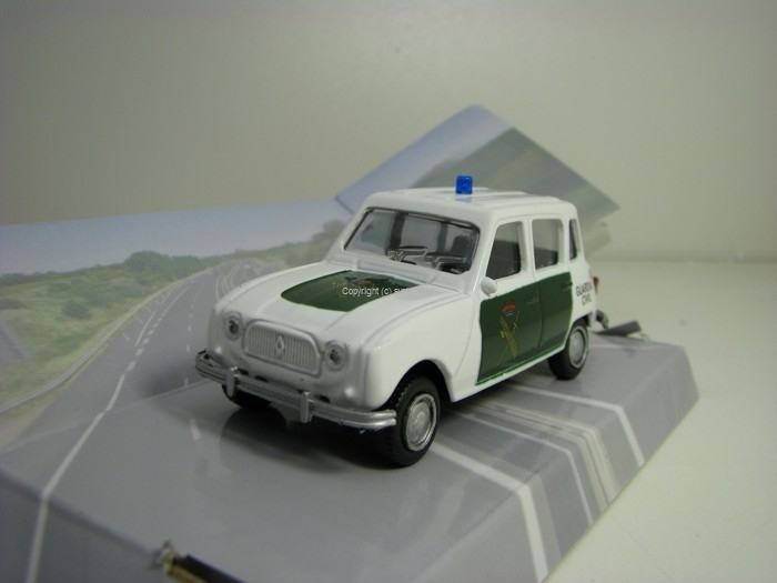 Renault 4L Guardia Civil 1:43 Mondo Motors