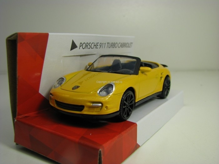 Porsche 911 Turbo Cabriolet Yellow 1:43 Mondo Motors