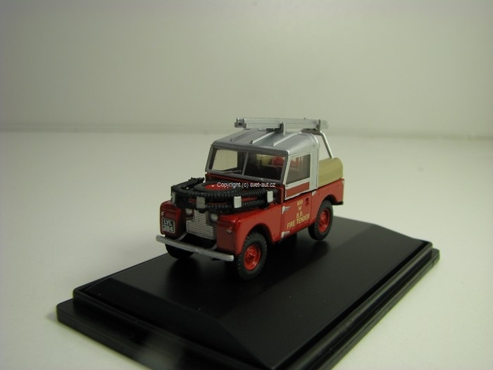 Land Rover 88 British Rail Fire Tender 1:76 Oxford