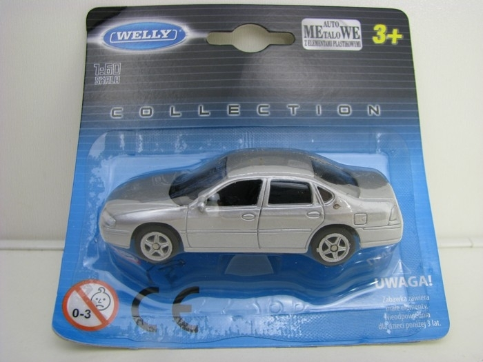 Chevrolet Impala 2001 Silver 1:60 Welly blistr