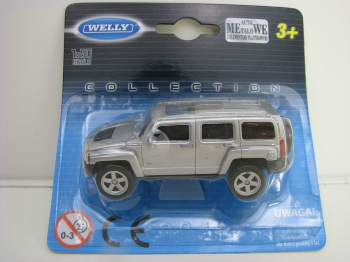 Hummer H3 Silver 1:60 Welly blistr