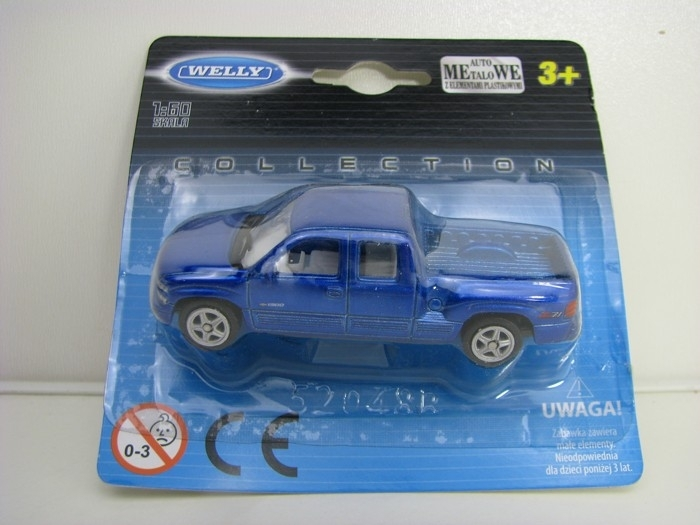 Chevrolet Silverado 1999 Blue 1:60 Welly blistr