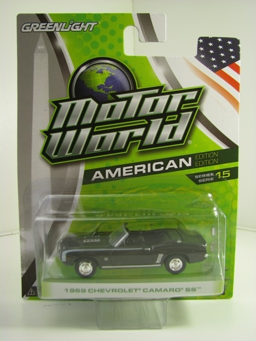 Chevrolet Camaro SS 1969 Black Motor World 1:64 Greenlight