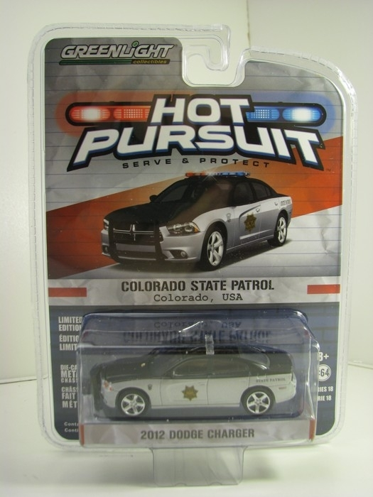 Dodge Charger 2012 Colorado State Patrol Hot Pursuit 1:64 Greenlight