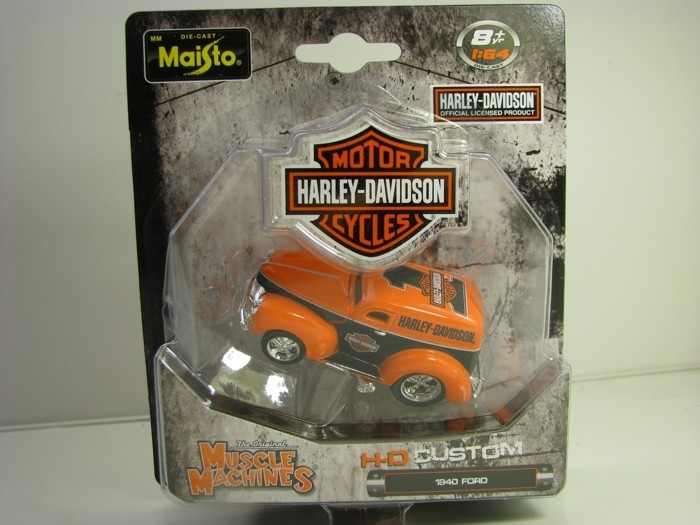 Ford 1940 Harley Davidson Custom, Muscle Machines 1:64 Maisto