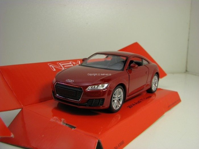 Audi TT Coupe 2014 Purple 1:34 - 39 Welly