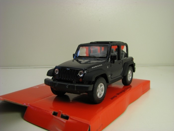 Jeep Wrangler Rubicon bez střechy Black 1:34 - 39 Welly