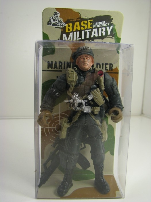 Figurka vojáka MP 10 cm se zbraní Base Military 06