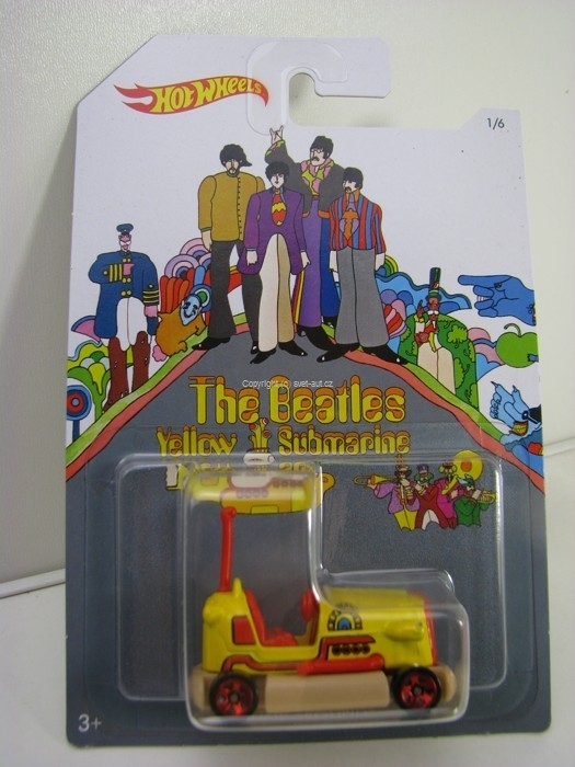 Hot Wheels The Beatles Yellow Submarine 1/6 Bump Around