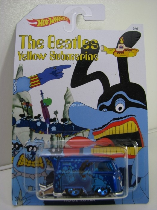 Hot Wheels The Beatles Yellow Submarine 6/6 Kool Kombi Blue Meanie