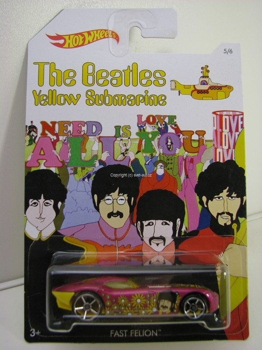 Hot Wheels The Beatles Yellow Submarine 5/6Fast Felion Ringo Starr