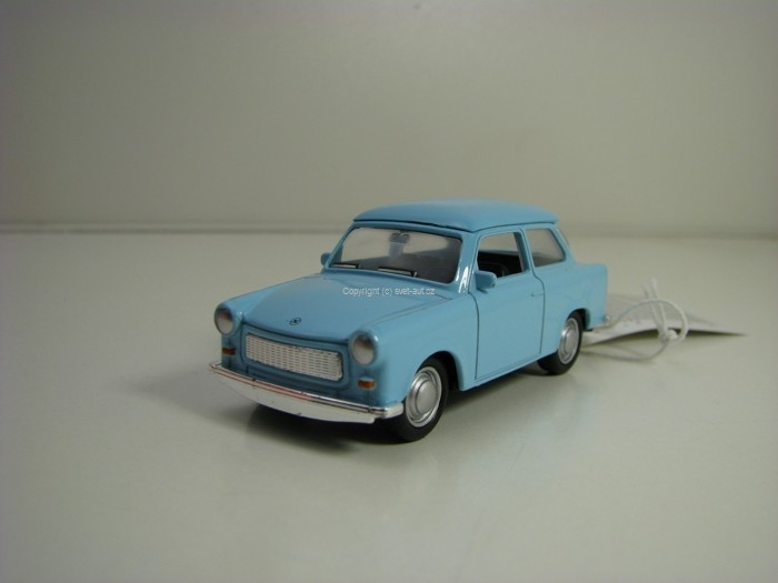 Trabant 601 Blue Pull Back 1:60 Welly