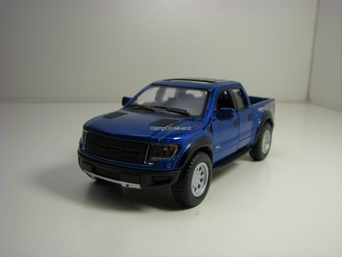 Ford F-150SVT Raptor 2013 Blue Pull Back 1:46 Kinsmart