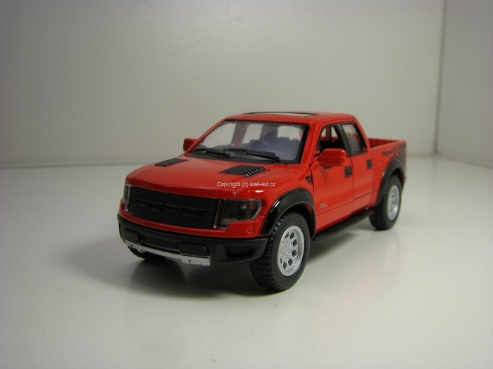 Ford F-150SVT Raptor 2013 Red Pull Back 1:46 Kinsmart