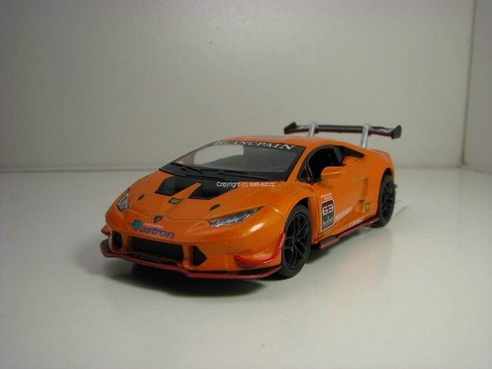Lamborghini Huracán LP620-2 Super Trofeo Orange Pull Back 1:36 Kinsmart