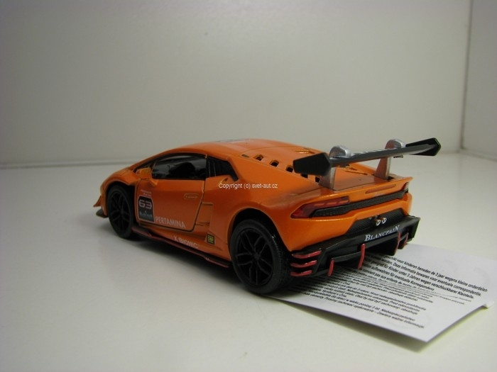 Lamborghini Huracán LP620-2 Super Trofeo Orange Pull Back 1:36 K