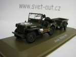 Jeep Willys MB s přívěsem 1:43 Atlas Edition