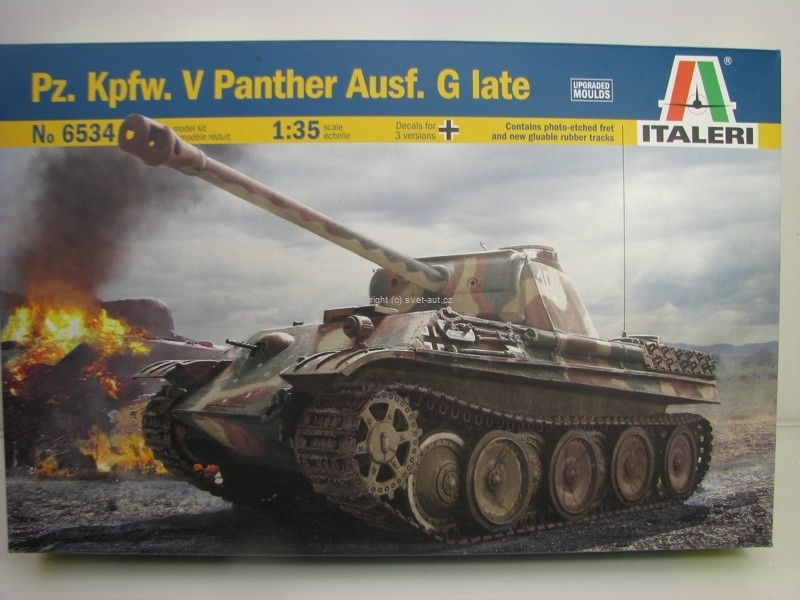 Tank Pz. Kpfw. V panther Ausf. G Late stavebnice 1:35 Italeri 6534