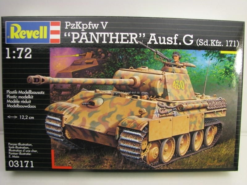 Tank PzKpfw V Panther Ausf.G Sd.Kfz. 171 stavebnice 1:72 Revell 03171