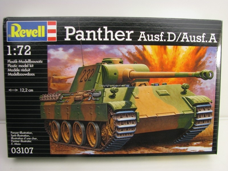 Tank Panther Ausf.D/Ausf. A stavebnice 1:72 Revell 03107