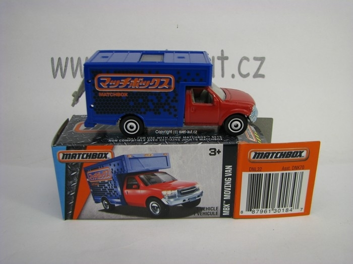 Mattel Matchbox Angličák v krabičce MBX Moving Van MBX Adventure City