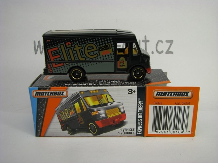 Mattel Matchbox Angličák v krabičce Express Delivery MBX Adventure City